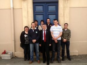 Philippe FOLLIOT avec les représentants de la fdsea 81 et des JA du Tarn