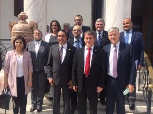 La délégation française aux côtés des députés égyptiens du GA Egypte-France
