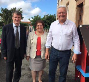 Philippe FOLLIOT et Gisèle DEDIEU en présence de Monsieur le Maire