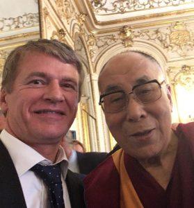 Philippe FOLLIOT aux côtés du Dalaï-lama