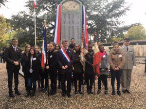 Philippe FOLLIOT à la cérémonie organisée au monument aux morts de Castres