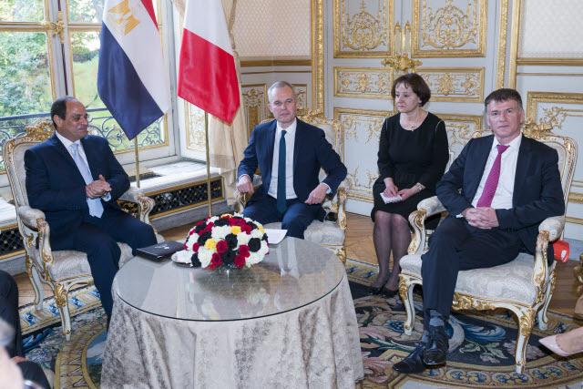 Philippe FOLLIOT rencontre le Président égyptien AL-SISSI