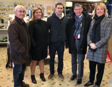 Philippe FOLLIOT et Muriel ROQUES ETIENNE visitent l'entreprise Foulquier au Séquestre