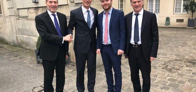 Philippe FOLLIOT et la délégation Française de l'AP-OTAN reçoivent le Secrétaire général de l'OTAN