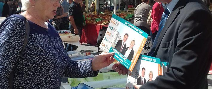Les députés du Tarn présents sur les marchés ce week-end