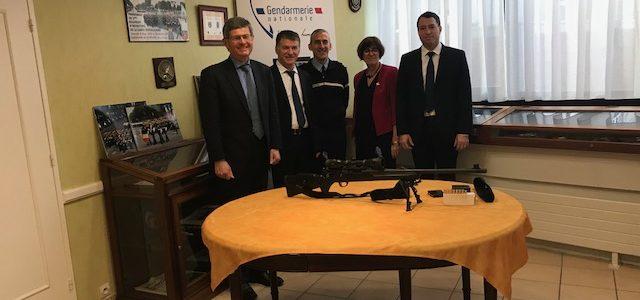 Philippe FOLLIOT et les parlementaires tarnais rencontrent la Garde Républicaine