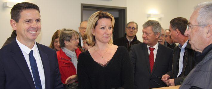 Muriel ROQUES ETIENNE à l'inauguration de la maison de santé de Centre Tarn