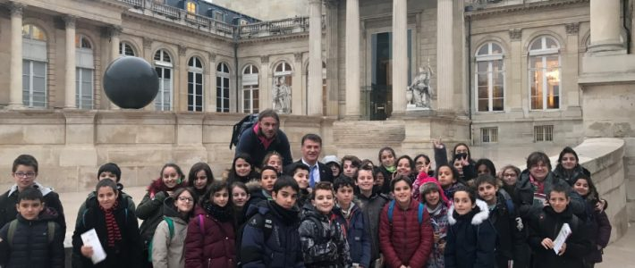 L'école Marie-Curie de Saint-Juéry à l'Assemblée nationale