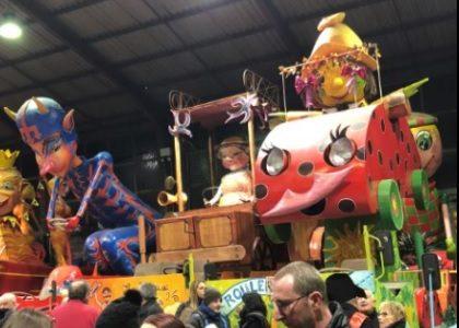 Muriel ROQUES ETIENNE à la présentation des chars du carnaval d'Albi