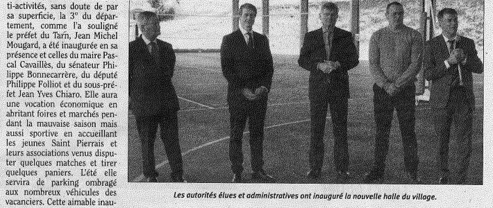 Inauguration de la halle multiactivité de Saint-Pierre-de-Trivisy
