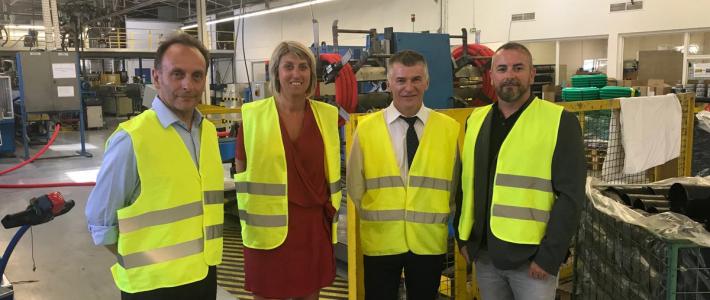 Philippe FOLLIOT visite l'entreprise Jano (ex Polypipe) du groupe RYB à Castres