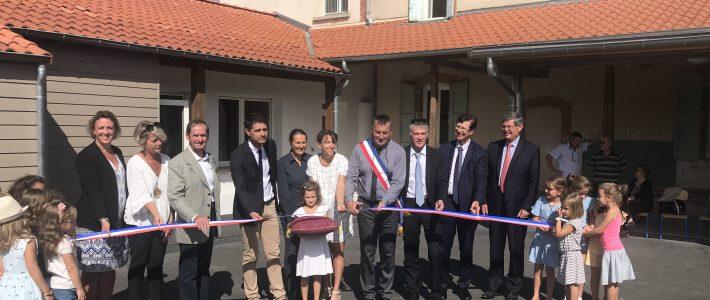 Inauguration de l'école de Carlus