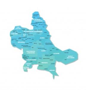 Carte de la 1ère Circonscription