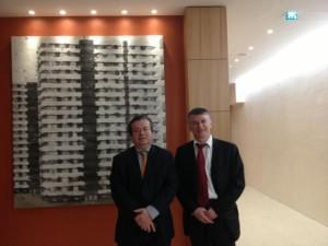Philippe FOLLIOT, député du Tarn et président du Groupe d'amitié France-Egypte au côté de Monsieur Nicolas GALEY, ambassadeur de France en Egypte.