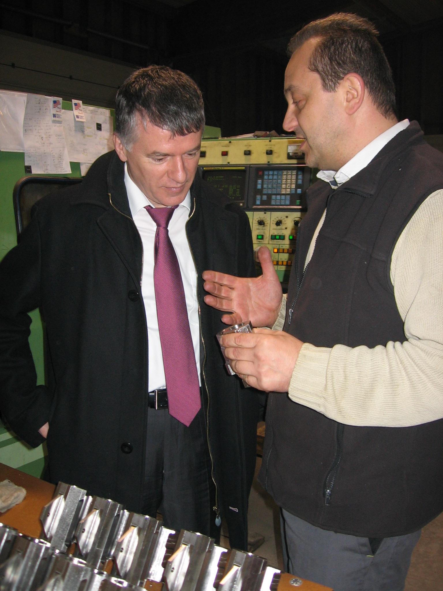 Philippe FOLLIOT et Étienne LOUP, patron de LTF