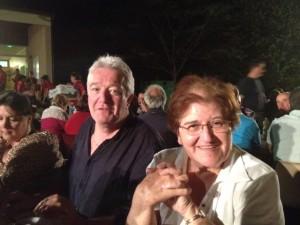 Gisèle DEDIEU et Mr le Maire de Mouzies Teulet