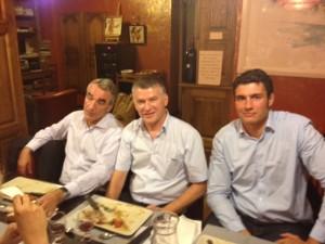 Philippe FOLLIOT entouré de Pierre-Yves REVOL, à gauche, et de Matthias ROLLAND, à droite.