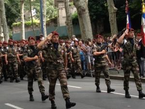Défilé du 8ème RPIMa lors du 14 juillet