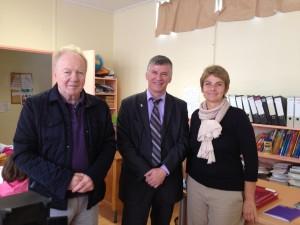 Philippe FOLLIOT en compagnie du maire et de la directrice