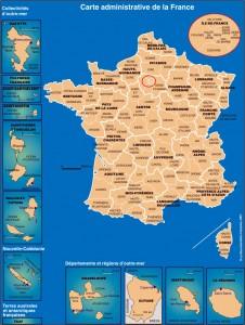 Les départements français.