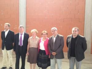 Philippe FOLLIOT et Jean-Michel BOUAT, en compagnie de candidats et chefs de file aux municipales