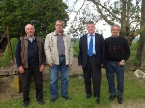 Philippe FOLLIOT et les élus municipaux de Fraissines