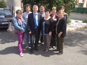 Philippe FOLLIOT entouré des élus de Courris