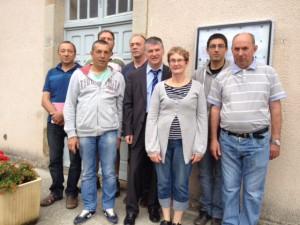 Philippe FOLLIOT et le conseil municipal de Massals