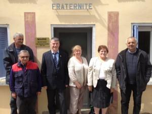 Philippe FOLLIOT et Gisèle DEDIEU aux côtés des élus de Saint-Cirgue