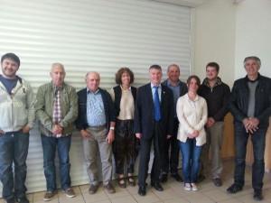 Philippe FOLLIOT et les élus de Cadix