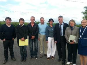 Philippe FOLLIOT et les élus de Saint-Michel-Labadie
