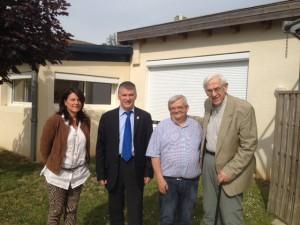 Visite de la maison de retraite de Trébas avec M. Pierre BERNARD