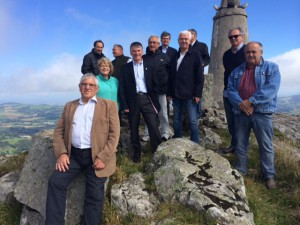 Philippe FOLLIOT et les élus de la montagne au Pic du Montalet