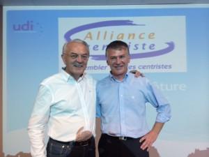 Philippe FOLLIOT, élu Président exécutif de l'Alliance centriste, au côté du Président, Jean ARTHUIS