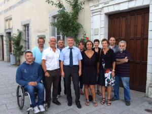 Philippe FOLLIOT et le conseil municipal de Brassac