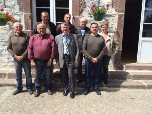 Philippe FOLLIOT et les élus de Barre