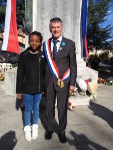 Philippe FOLLIOT, et la députée junior, Henriette ZAMO'O, ont participé à la cérémonie du 11 novembre à Castres.