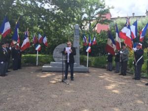 Au côté d'Olivier FABRE, Maire de Mazamet, pour la cérémonie mazamétaine.
