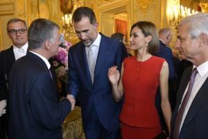 Philippe FOLLIOT auprès du couple royal espagnol