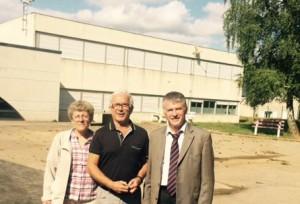 Philippe FOLLIOT en compagnie de Jean-Claude GUIRAUD, Maire de Brassac et de Brigitte PAILHE-FERNANDEZ, conseillère départementale