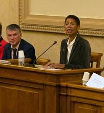 Philippe FOLLIOT aux côtés de Madame Georges PAU-LANGEVIN, Ministre de l'outre-mer
