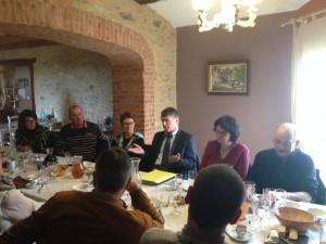Philippe FOLLIOT aux côtés des maires de l'ex Canton de Valence