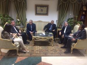 La délégation française à la rencontre du Gouverneur du sud Sinaï