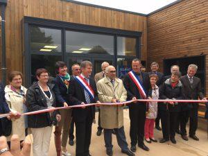 Philippe FOLLIOT aux côtés des élus et personnalités pour l'inauguration du centre Aqua-monts