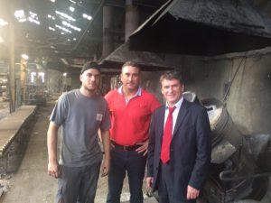 Philippe aux côtés de Monsieur Boris BOISSIERES, Directeur général de la fonderie Gillet