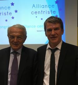 Philippe FOLLIOT, nouveau Président de l'Alliance Centriste, aux côtés de Jean ARTHUIS