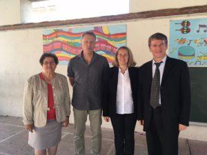 Philippe FOLLIOT à l'école Nougaro en Présence de Monsieur le Directeur et de l'inspectrice académique du secteur