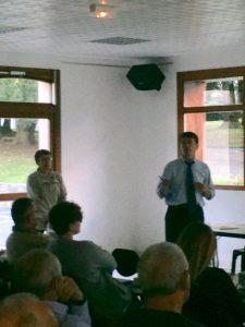 Philippe FOLLIOT et Brigitte PAILHE-FERNANDEZ lors de leur première réunion cantonale à Brassac