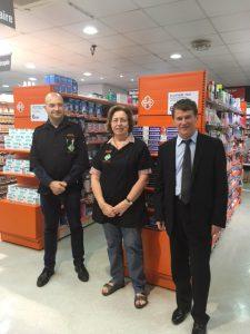 Philippe FOLLIOT en compagnie de Madame DAUTEZAC, Directrice de la pharmacie Réveillon à Albi