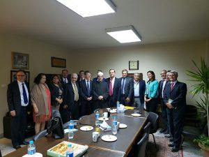 Philippe FOLLIOT aux côtés de pasteur Andrea ZAKI et de l'Imam Ihab TANAS